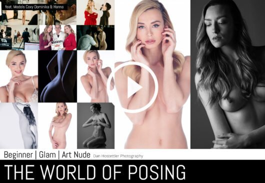 Nude Photography - The World Of Posing - Beginner, Glamour, Art Nudes with Playmate Coxy Dominika & Dan Hostettler Photography, StudioPrague