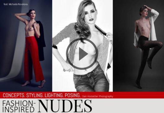 Nude Photography - Fashion-Inspired Nudes - with Michaela Novakova & Dan Hostettler Photography, StudioPrague